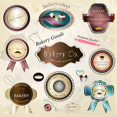 Bakery Labels Set - Vector Illustration