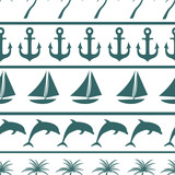 Sea seamless pattern background vector ilustration