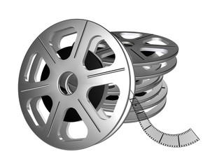 Filmrolle aufeinander