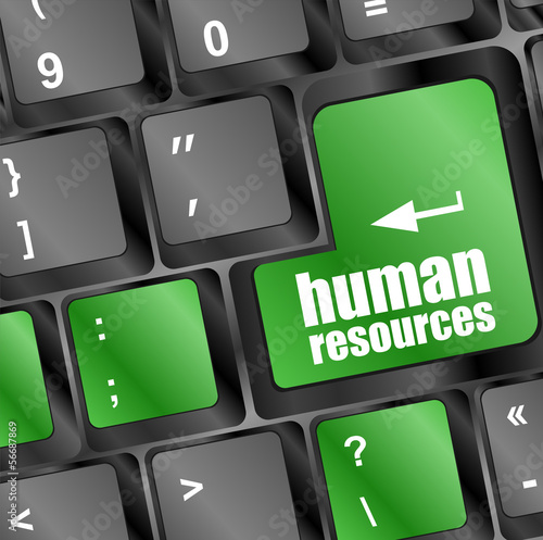 human resources button on computer keyboard key
