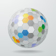 Honeycomb Structure Sphere #Vector