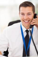 office worker talking on telephone