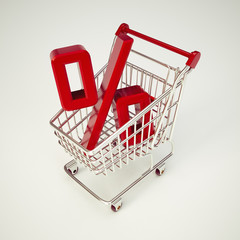 Cart and Percentage.