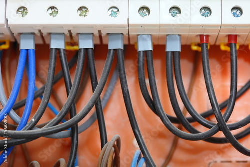 Electrical panel box with fuses and contactors