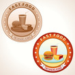 Retro Fast Food Labels. Vector illustration.