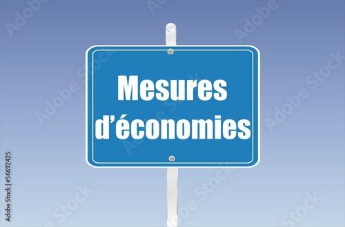 panneau mesures d'économies