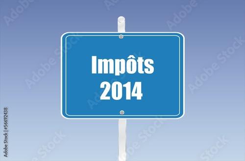 panneau impôts 2014