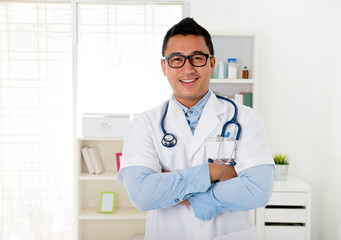 malay male doctor in the clinic