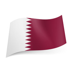 State flag of Qatar.