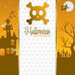 Skull Halloween invitation card in vector format.
