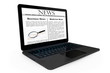 Online News concept. Modern Laptop with News on the screen