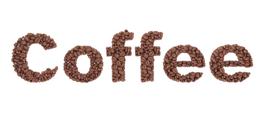 Coffee Sign from coffee beans