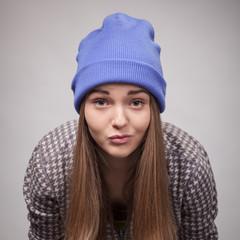 Young angry girl