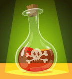 Poisonous potion. Vector illustration.