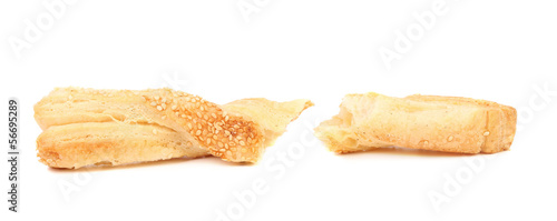 Some pastry sticks with sesame seeds