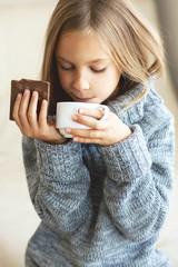 Child drinking tea