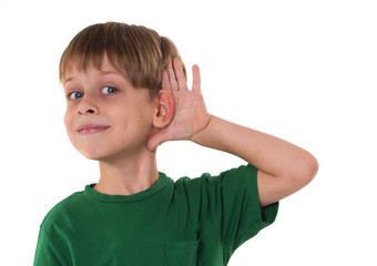 boy wants to hear something