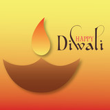 Beautiful traditional indian diwali festival wishes design
