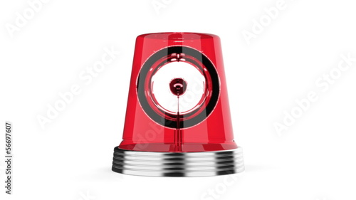 Red flashlight on white background