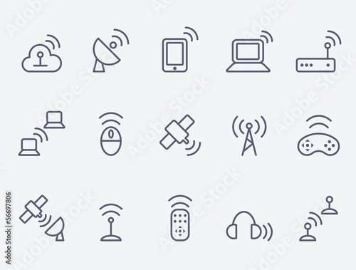 Wireless icon set