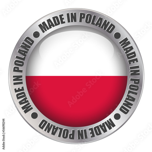 """MADE IN POLAND"" label (badge stamp flag polish made)"