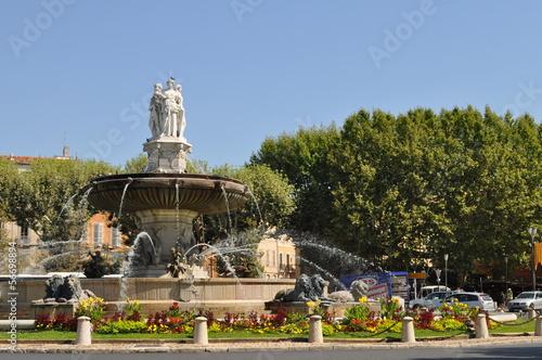 Foto op Aluminium Fontaine Fontaine de la Rotonde, Aix-en-Provence