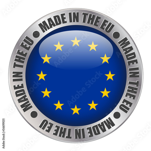 """MADE IN THE EU"" label (stamp flag European union europe)"