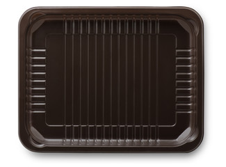 Brown plastic  packing food tray