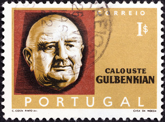 Pioneer and philanthropist Calouste Gulbenkian (Portugal 1965)