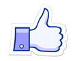 Like it thumb up button VECTOR EPS 10