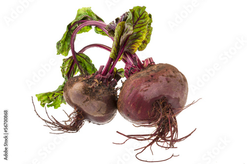 Raw beet with leaf