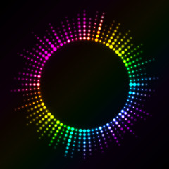 Vector colorful lights