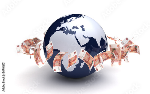 Global Business Ruble Currency