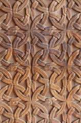 Carved wooden background