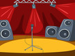 Rock&Roll Stage Cartoon