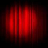 Vector red curtain with projector light