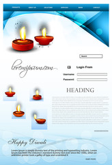 Fantastic Website Beautiful stylish happy diwali template blue c
