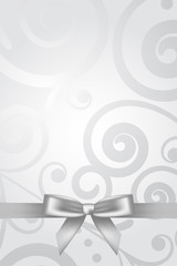 Vector silver background with bow