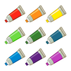 Colorful Paint Tubes