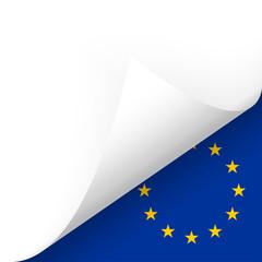 Papier - Ecke unten - Länderflagge EU