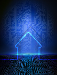 Smart house abstract background.