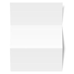 Leeres Blatt Papier - weiß geknickt