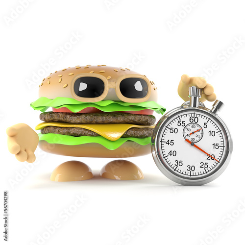 Burger with stopwatch