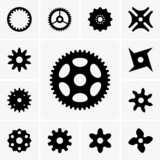 Set of cogwheel icons