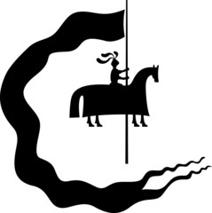 Knight with a banner