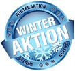 """Button Banner """"Winteraktion"""" blau"""