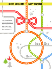 Travel in Christmas - vector background