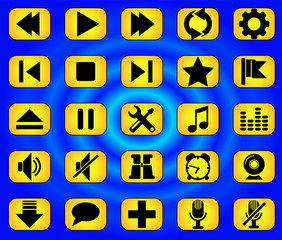Media buttons yellow 2