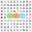 Set of Business Work People Icons