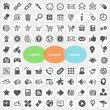Set of Internet Homepage Webshop Icons